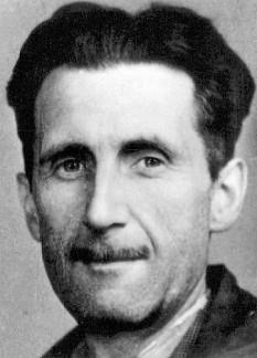 George Orwell (pseudonimul literar și jurnalistic al lui Eric Arthur Blair) (n. 25 iunie 1903, India — d. 21 ianuarie 1950, Londra) scriitor englez, comentator al radio BBC, editorialist și reporter - fotografia de pe legitimația de ziarist (1933) - foto: ro.wikipedia.org