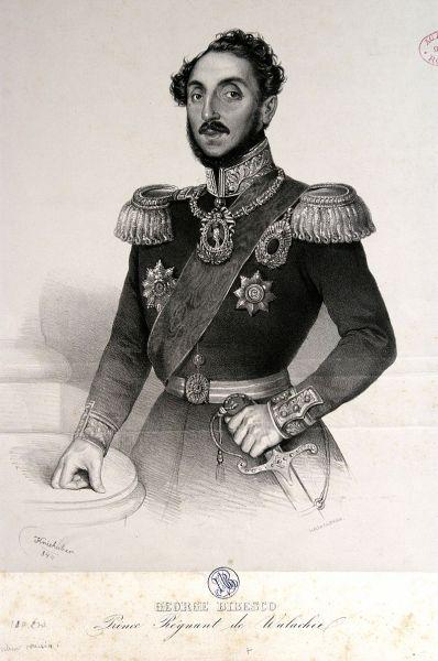 Gheorghe Bibescu (n. 26 aprilie 1804, Craiova - d. 1 iunie 1873, Paris) a fost domn în Țara Românească în perioada 1 ianuarie 1843 - 13/25 iunie 1848 - foto: ro.wikipedia.org