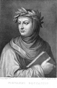 Giovanni Boccaccio (n. 1313 — d. 21 decembrie 1375, Certaldo/Florența) poet și umanist italian - foto (Engraved portrait  by Raffaello Sanzio Morghen (1758-1833) after Vincenzo Gozzini and dated 1822): ro.wikipedia.org