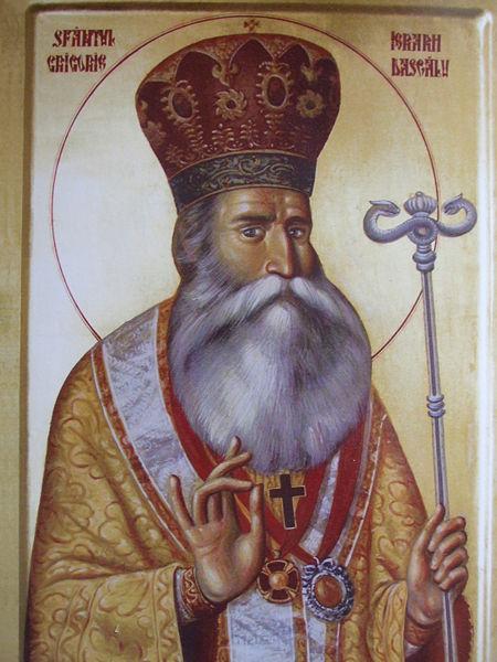 Sfântul Ierarh Grigorie Dascălul (1765 - 1834) a fost cel mai de seamă mitropolit al Țării Românești din secolul al XIX-lea (între anii 1823-1834). Întreaga sa viață și lucrare în slujba Bisericii a fost un exemplu de sfințenie și de iubire pentru cei pe care i-a păstorit. Biserica Ortodoxă Română îl prăznuiește pe data de 22 iunie - foto preluat de pe ro.orthodoxwiki.org