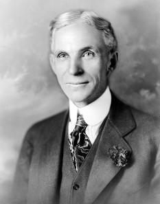 Henry Ford (n. 30 iulie 1863- d. 7 aprilie 1947) a fost fondator al industriei americane de automobile, a întemeiat Ford Motor Company (1903), autor al unui nou mod de organizare a producției industriale, cunoscut sub denumirea de fordism - foto - en.wikipedia.org