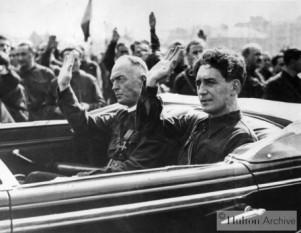 Ion Antonescu şi Horia Sima - foto: cersipamantromanesc.wordpress.com