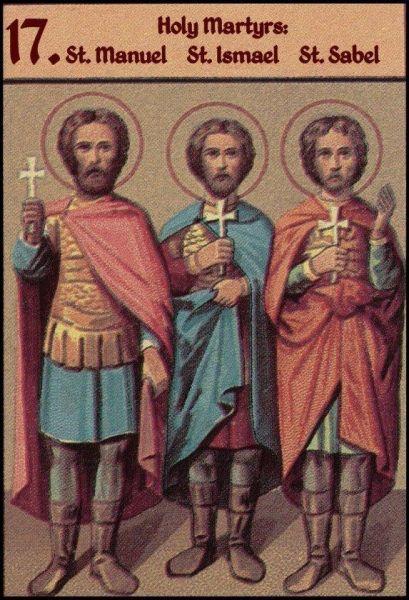 Sfinții mucenici Ismail, Manuil și Savel. Prăznuirea lor de către Biserica Ortodoxă se face la data de 17 iunie - foto: doxologia.ro