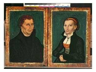 Martin Luther si  Katharina von Bora, portrete de Lucas Cranach cel Bătrân - foto - cersipamantromanesc.wordpress.com