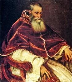 Papa Paul al III-lea a fost un papă al Romei. Pe numele laic Alessandro Farnese, a păstorit Sfântul Scaun în perioada 1534-1549 - foto - ro.wikipedia.org