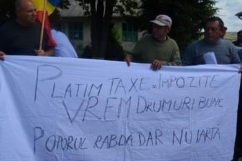 Oamenii din Havârna, cer drumuri mai bune - foto - adevarul.ro (botosaneanul.ro)