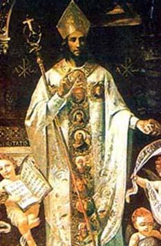 Sfântul Paulin de Nola (lat. Meropius Pontius Anicius Paulinus : n. 353 - m. 431) a fost un episcop şi teolog din Occident, prăznuit de Biserica Ortodoxă la data de 22 iunie şi la 23 ianuarie - foto: calendarcatolic.ro