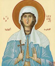 Sfânta Muceniță Achilina.  Prăznuirea sa de către Biserica Ortodoxă se face la data de 13 iunie - foto: crestinortodox.ro