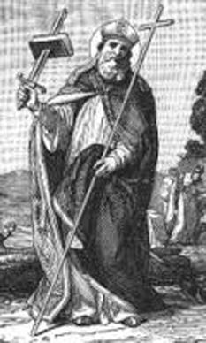 Sfantul  Bonifatius (Boniface ), n. cca. 675 cu numele de  Winfrid, Wynfrith sau Wynfryth în împărăția de Wessex, în  Anglia anglo- saxonă, d. 5 iunie 754 - foto - cersipamantromanesc.wordpress.com