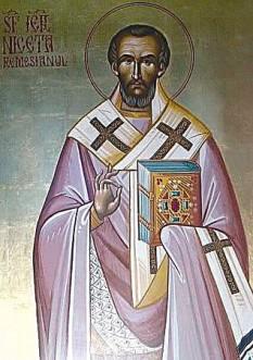 Sfântul Niceta de Remesiana,  (n. cca. 335, d. 414), originar din Dacia Mediteraneea, a fost episcop în cetatea Remesiana (astăzi în Serbia), între anii 366-414. Este considerat unul din principalii evanghelizatori ai Daciei. Prăznuirea lui se face la data de 24 iunie în Biserica Ortodoxă (iar în Occident la 7 ianuarie și pe 22 iunie)  - foto: crestinortodox.ro