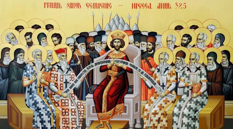Sfinții Părinți de la Sinodul I Ecumenic - foto: doxologia.ro