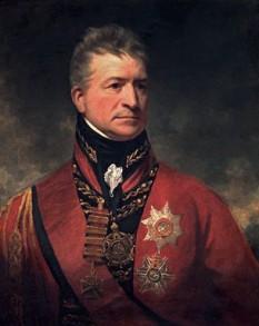 Generalul britanic Sir Thomas Picton (n. august 1758, d. 18 iunie 1815) general britanic născut în Țara Galilor, căzut pe câmpul de onoare de la Waterloo - foto - ro.wikipedia.org