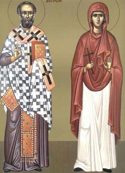 Sfântul Ierarh Trifilie și Sfânta Muceniță Achilina.  Prăznuirea sa de către Biserica Ortodoxă se face la data de 13 iunie - foto: doxologia.ro