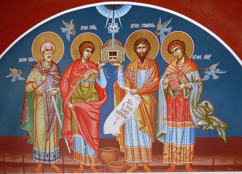 Sfinţii Mucenici Zotic, Atal, Camasis şi Filip sunt patru mucenici, probabil din secolul al IV-lea, martirizaţi undeva pe teritoriul oraşului Noviodunum (Isaccea de azi), ale căror moaşte au fost descoperite în comuna Niculiţel (jud. Tulcea) în toamna anului 1971, cu ocazia unor surpări de teren datorate unor ploi abundente. Prăznuirea lor de către Biserica Ortodoxă se face la data de 4 iunie - foto preluat de pe doxologia.ro
