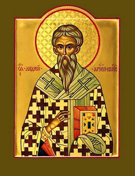 Sfântul părintele nostru Andrei Criteanul (sec. VII-VIII) s-a născut la Damasc, într-o familie de creștini. Până la vârsta de 7 ani băiatul nu a vorbit deloc, dar după ce s-a împărtășit cu Sfintele Taine a primit darul vorbirii. Apoi a studiat Sfânta Scriptură și Teologia, devenind arhiepiscop de Creta. Prăznuirea lui în Biserica Ortodoxă se face pe 17 octombrie - foto: doxologia.ro