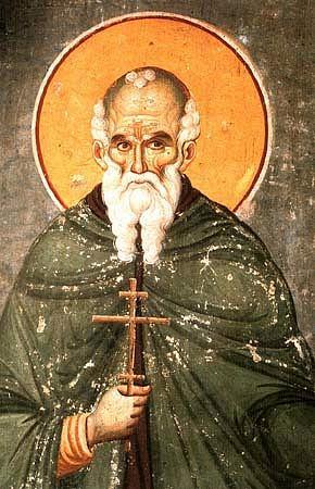 Preacuviosul Părintele nostru At(h)anasie Atonitul (Greek: Αθανάσιος ο Αθωνίτης) sau Atanasie din Trapezunt a fost un monah care a întemeiat comunitatea monastică de la Muntele Athos, comunitate ce a devenit mai apoi cel mai mare centru al monahismului ortodox. Prăznuirea lui se face pe 5 iulie - foto: ro.orthodoxwiki.org