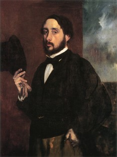 Edgar Germain Hilaire Degas (n. 19 iulie 1834, Paris - d. 27 septembrie 1917, Paris), pictor francez din a doua jumătate a secolului al XIX-lea - foto (Edgar Degas: Autoportret, 1863 - Museu Calouste Gulbenkian, Lisabona) - ro.wikipedia.org