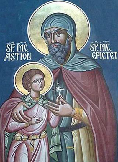 Sfinții Mucenici Epictet preotul și Astion monahul (†290) - foto preluat de pe ro.orthodoxwiki.org