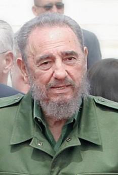Fidel Castro (Speaker Icon.svg audio), pe numele său complet Fidel Alejandro Castro Ruz (n. 13 august 1926) revoluționar cubanez care a participat la răsturnarea dictaturii lui Fulgencio Batista și transformarea Cubei în primul stat comunist din emisfera vestică - foto - ro.wikipedia.org