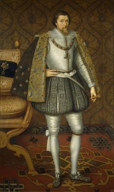 Iacob al VI-lea și I (engleză James VI and I; 19 iunie 1566 – 27 martie 1625) a fost rege al Scoției ca Iacob al VI-lea din 24 iulie 1567 și rege al Angliei și Irlandei ca Iacob I de la 24 martie 1603 până la moartea sa. A domnit în Scoția ca Iacob al VI-lea din 24 iulie 1567, pe când avea doar un an, urmându-i la tron mamei sale, Maria I a Scoției. Cât timp a fost minor, a guvernat o regență în numele său, care s-a încheiat oficial în 1578, deși nu a preluat controlul complet asupra guvernului său până în 1581. Pe 24 martie 1603, ca Iacob I, a urmat la tron ultimului monarh al Angliei și Irlandei din dinastia Tudor, Elisabeta I, care murise fără moștenitori. Avea să conducă Anglia, Scoția și Irlanda timp de 22 de ani, până la moartea sa la 58 de ani - in imagine, Portret al lui Iacob I de John de Critz, c. 1605 - foto:ro.wikipedia.org