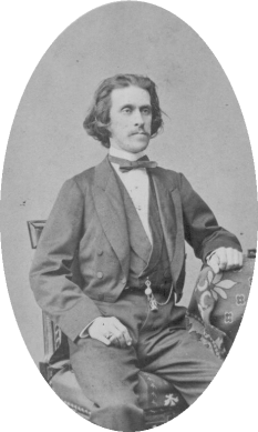 Josef Strauss (August 20, 1827 – July 22, 1870) compozitor austriac  - foto - en.wikipedia.org
