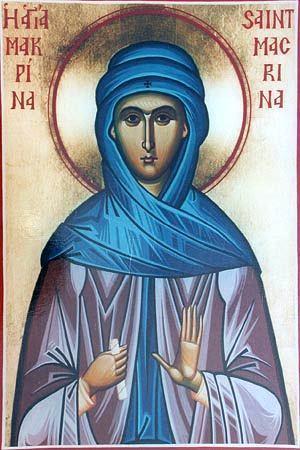Sfânta Cuvioasă Macrina, sora Sfântului Vasile cel Mare. Prăznuirea sa de către Biserica Ortodoxă se face la data de 19 iulie - foto: doxologia.ro