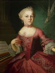 "Maria Anna Walburga Ignatia Mozart (30 July 1751 – 29 October 1829), called Marianne and nicknamed ""Nannerl"", was a musician, the older sister of Wolfgang Amadeus Mozart and daughter of Leopold and Anna Maria Mozart - foto  - en.wikipedia.org"