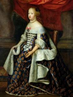 Maria Tereza a Austriei (n. 10 septembrie 1638 – d. 30 iulie 1683) fiica regelui Filip al IV-lea al Spaniei și a reginei Elisabeta a Franței. Prin căsătoria cu Ludovic al XIV-lea al Franței a fost regină a Franței. A fost mama Marelui Delfin - foto - ro.wikipedia.org