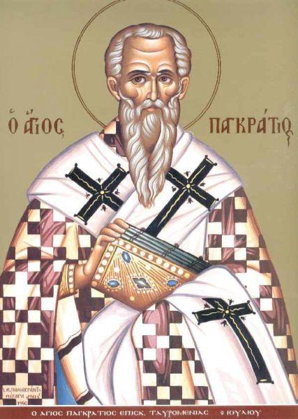 Sfântul Sfințit Mucenic Pangratie, episcopul Taorminei. Prăznuirea sa de către Biserica Ortodoxă se face la data de 9 iulie - foto: doxologia.ro
