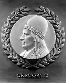 Papa Grigore al IX-lea, papă al Romei. Pe numele laic Ugolino di Conti, a pastorit intre anii 1227-1241 - foto - ro.wikipedia.org