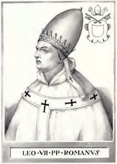 Papa Leon al VII-lea, Papă al Romei înperioada 3 Ianuarie 936 - 13 Iulie 939 - foto - ro.wikipedia.org