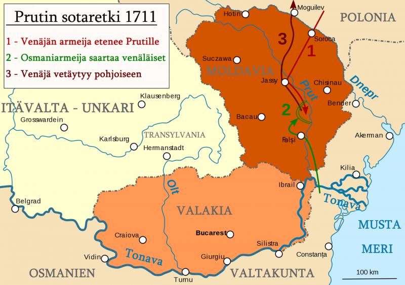 Războiul Ruso-Turc, Campania din 1711 - foto: ro.wikipedia.org
