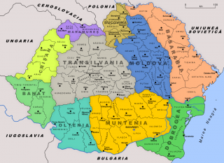 Judeţele şi regiunile istorice ale României Mari după 1926 - foto - ro.wikipedia.org
