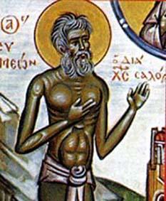 Sf. Cuv. Simeon, cel ce s-a facut nebun pentru Hristos - foto: calendar-ortodox.ro