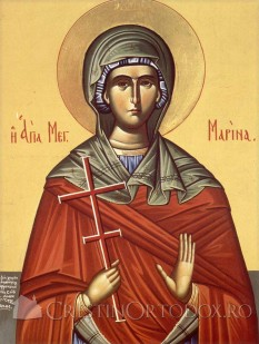 Sfânta Mare Muceniță Marina. Prăznuirea sa de către Biserica Ortodoxă se face la data de 17 iulie - foto: crestinortodox.ro