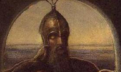 Contele Siward (sau Sigurd) de Northumbria, pictura de James Smetham - foto - en.wikipedia.org
