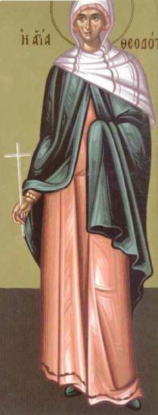 Sfânta Muceniță Teodota. Prăznuirea sa de către Biserica Ortodoxă se face la data de 29 iulie - foto: doxologia.ro