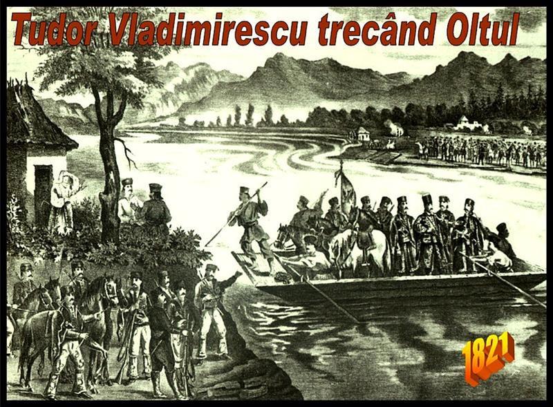 Tudor Vladimirescu trecand Oltul - foto preluat de pe agero-stuttgart.de