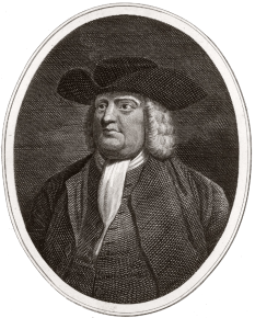 William Penn (14 October 1644 – 30 July 1718) was an English real estate entrepreneur, philosopher, early Quaker and founder of the Province of Pennsylvania, the English North American colony and the future Commonwealth of Pennsylvania. He was an early advocate of democracy and religious freedom, notable for his good relations and successful treaties with the Lenape Indians. Under his direction, the city of Philadelphia was planned and developed -  foto  - en.wikipedia.org