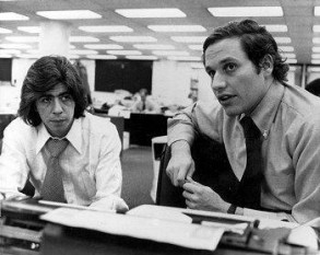 Washington Post - Jurnaliştii Carl Bernstein şi colegul său Bob Woodward - foto - historia.ro