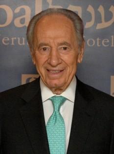 Șimon Peres (n. 2 august 1923 Wiszniew, Polonia, astăzi Belarus) om politic social-democrat israelian - foto - ro.wikipedia.org