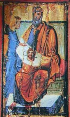 Abgar si icona nefacuta de mâna - foto - calendar-ortodox.ro