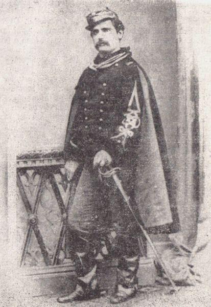 """Alexandru Candiano-Popescu (n. 27 ianuarie 1841, Lipia, Buzău - d. 25 iunie 1901), avocat, ziarist și general al armatei române, a fost fondatorul ziarelor """"Perseverența"""" și """"Democrația"""" și inițiatorul mișcării republicane antidinastice din 20 august 1870, cunoscută și sub denumirea de Republica de la Ploiești - foto preluat de pe ro.wikipedia.org"""
