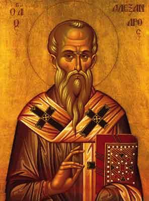 Cel între sfinţi, părintele nostru Alexandru al Constantinopolului a fost primul episcop al Constantinopolului, el fiind deja episcop al Bizanţului atunci când numele oraşului a fost schimbat în Constantinopol. Alexandru a participat la Sinodul I Ecumenic de la Niceea şi a luptat împotriva ereziei ariene. El este pomenit de Biserică la 30 august - foto: ro.orthodoxwiki.org