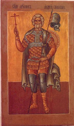 Sfântul mucenic Andrei Stratilat a fost un sfânt militar care a trăit în zilele împăratului Maximian Galeriu (către anul 305). Prăznuirea lui în Biserica Ortodoxă se face la 19 august - foto: doxologia.ro