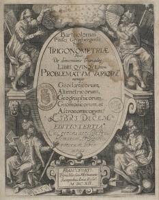 Lucrarea de trigonometrie a lui Bartholomaeus Pitiscus, ediția din 1612 -  foto - ro.wikipedia.org
