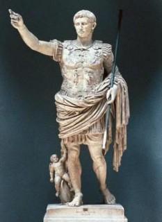 Augustus Octavian Caesar (n. 23 septembrie 63 î.Hr., Roma — d. 19 august 14 d.Hr., Nola), cunoscut anterior drept Octavian, primul Împărat Roman - foto - cersipamantromanesc.wordpress.com