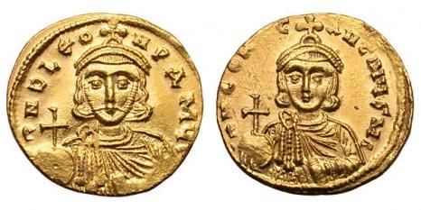 Constantin al V-lea Copronimul (nume-murdărit) (718 - 14 septembrie, 775) împărat bizantin între 741 și 775 (cu întrerupere 741 - 743), fiul lui Leon III - foto (Constantin V şi tatăl său Leon III)  - ro.wikipedia.org