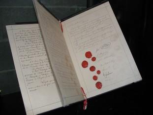 Convențiile de la Geneva.  Documentul original - foto - ro.wikipedia.org
