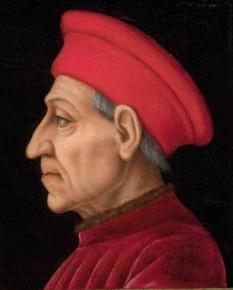 Cosimo di Giovanni de' Medici (n. 27 septembrie 1389 – 1 august 1464), cunoscut și sub numele de Părintele Patriei, a fost primul membru din Dinastia de' Medici care a condus de facto Florența - foto - ro.wikipedia.org